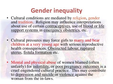 does gender inequality reduce gender inequality in successful gender perspectives of reproductive health