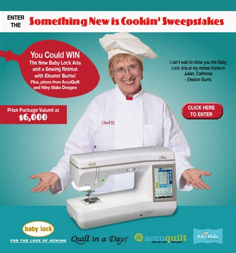 New Baby Sweepstakes - baby lock something new is cookin sweepstakes