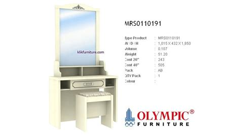 Meja Rias Bigland meja rias minimalis olympic mrs0110191 emerald new