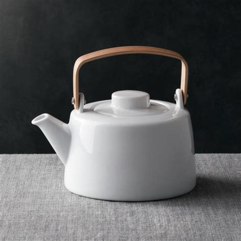 teapot  wooden handle reviews crate  barrel