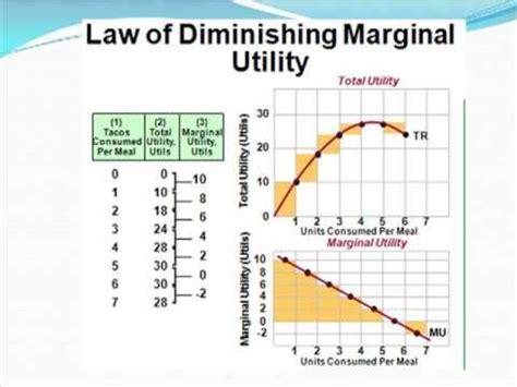 law of diminishing marginal utility marginal utility review 4 wmv youtube