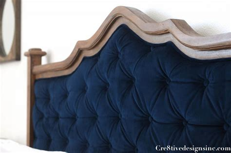 Diy Tufted Headboard by Diy Blue Tufted Headboard Cre8tive Designs Inc