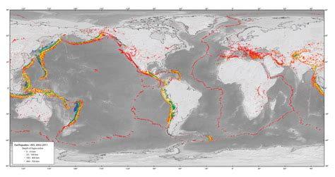 earthquake depth earthquake magnitude and depth