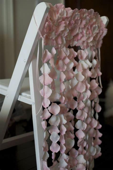 diy wedding ceremony chair decorations diy petal decorations so pretty weddingbee photo gallery