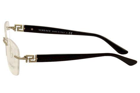 versace s eyeglasses ve1225b ve 1225 b rimless