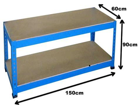 warehouse work benches 150x60x90 heavy duty blue steel work bench garage