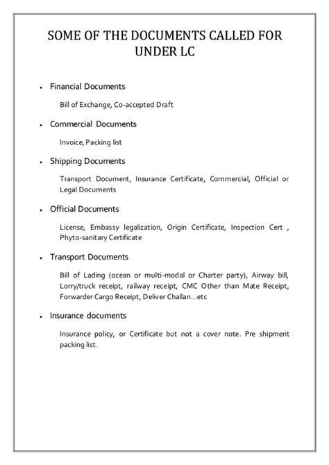 Letter Of Credit Conditions Letter Of Credit Report