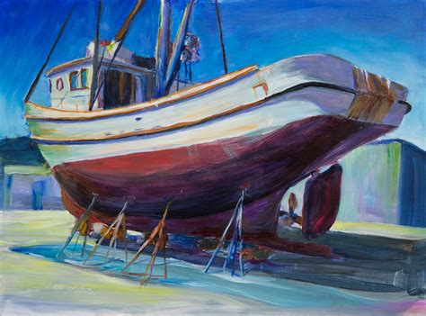 structure paintings by mark howard webster - Pt Townsend Boat Yard