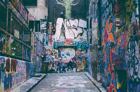 images road alley color grunge graffiti