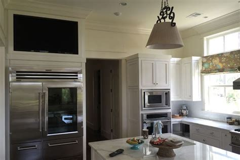 built  kitchen cabinet tv