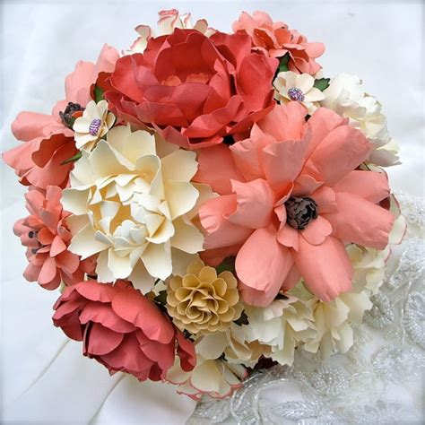 Handmade Paper Flower Bouquet - paper flower bouquet by dragonfly expression via