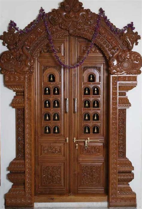 latest pooja room door frame door design gallery
