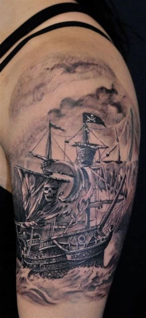 pirate tattoo sleeve 25 best ideas about pirate ship tattoos on