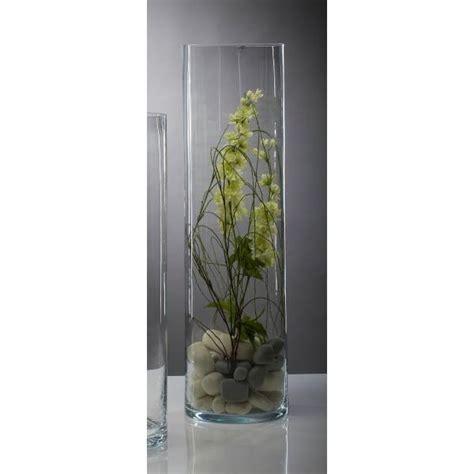 bodenvase glas rich bodenvase blumenvase zylinder cyli h 75cm 216
