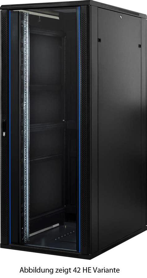 server schrank 22 he 19 zoll serverschrank mit glast 252 r 800x1000x1200mm