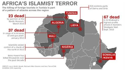 the terrorist threat in africa ã before and after benghazi books attack in tunisia arrests made cnn