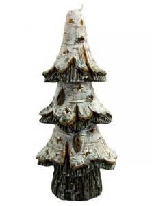 birch bark christmas tree candle 16cm christmas