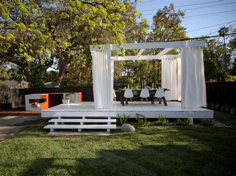 backyard stage design chris lambton hgtv