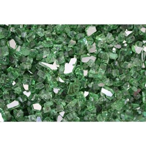 Fireplace Glass Rocks Home Depot by Margo Garden Products 25 Lb Green Reflective Tempered