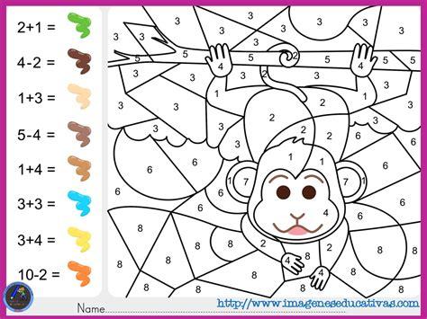 imagenes matematicas primaria fichas de matematicas para sumar y colorear dibujo 2