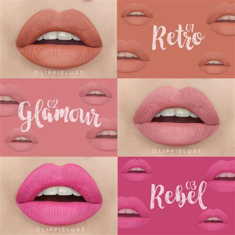 Silky Matte Junkie Lip Pewarna Bibir 1 swatched silky matte junkie 9 shades lippielust