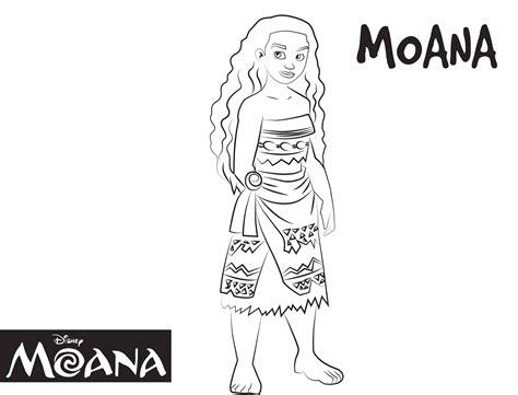 imagenes para colorear moana moana dibujos colorear princesa disney dibujalandia