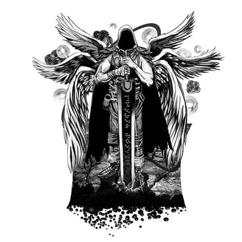 black and white angel wings tattoo designs 25 best ideas about on