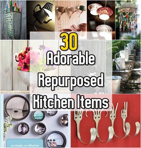 Experiments With Kitchen Items 30 Adorable Repurposed Kitchen Items Diy Craft Projects