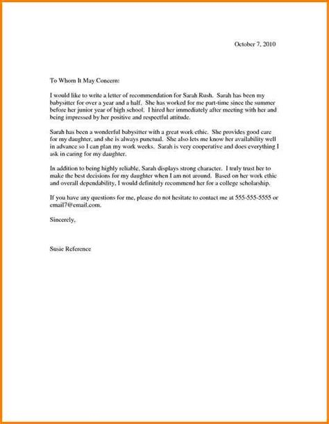Character Letter For A Highschool Student 11 Scholarship Recommendation Letter For High School Student Quote Templates