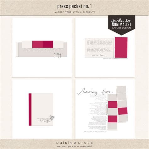 press packet template digital scrapbooking templates templates the lilypad