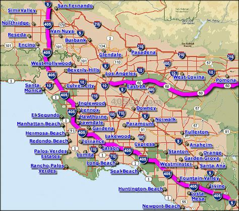 california map pomona pomona freeway map