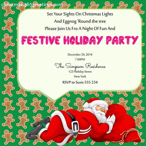 christmas party invitation ideas christmas celebration