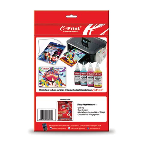 Kertas Stiker Sticker Paper A4 Glossy Dan Doff 21 X 297 Cm glossy sticker paper a4 135gsm e print