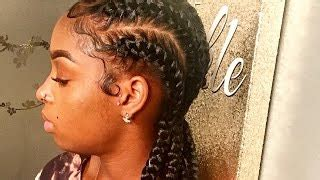 goddess braids with weave step by step tutorial part 2