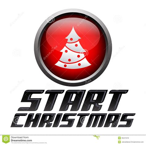 start christmas start button royalty  stock images image