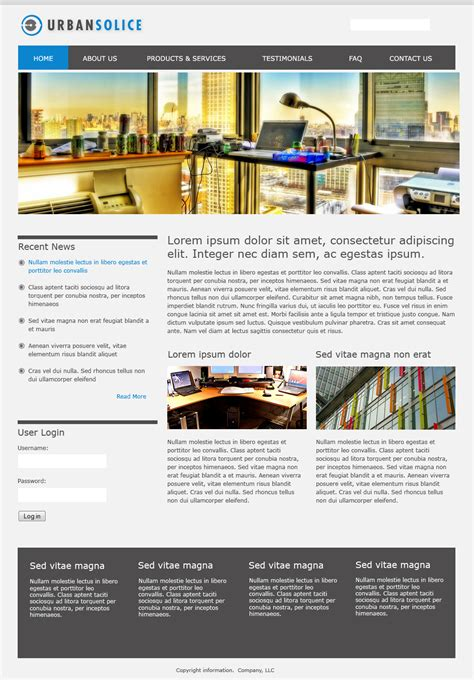 drupal themes overview urban solice drupal free themes