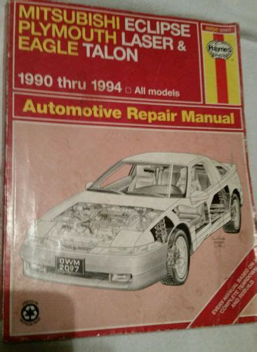 service manuals schematics 1990 mitsubishi eclipse on board diagnostic system find haynes 1990 94 mitsubishi eclipse plymouth laser eagle talon repair manual motorcycle in