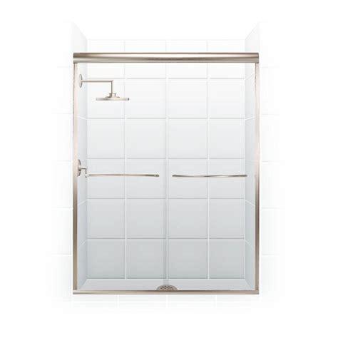 Sliding Shower Door Towel Bar Coastal Shower Doors Paragon Series 54 In X 71 In Semi Framed Sliding Shower Door With Radius