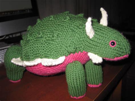 knitted dinosaurs tina barrett ravelry ankylosaurus pattern by tina barrett