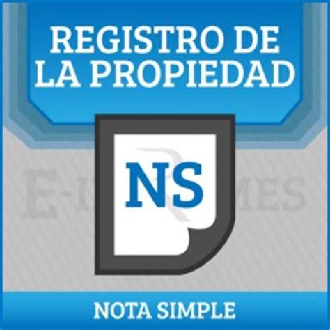registro bienes muebles alicante solicitud informe del registro de bienes muebles nota
