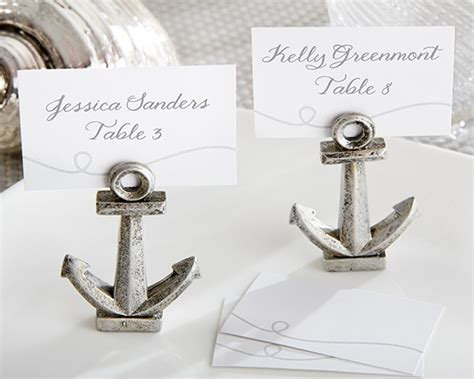 pl l l holder quot nautical quot anchor place card photo holder set of 6