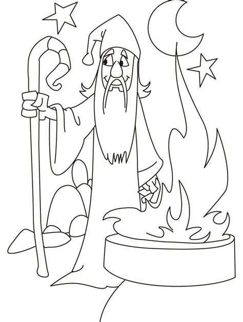 wizard coloring pages for adults coloring pages