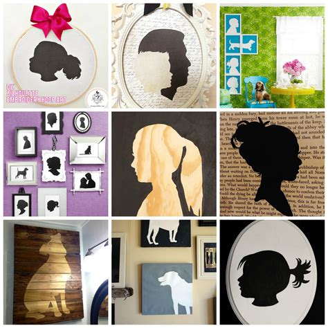 diy silhouette 9 diy silhouette projects diy for