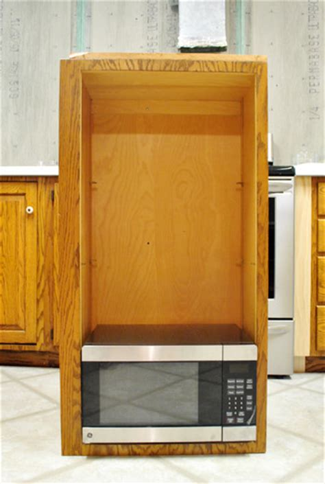 Cabinet Hello How To Hide A Microwave Building It Into A Vented Cabinet