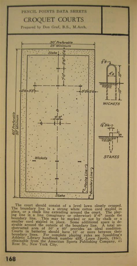 layout for croquet game engineering johnson pencil points