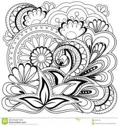Doodle flowers and mandalas stock vector image 65676423