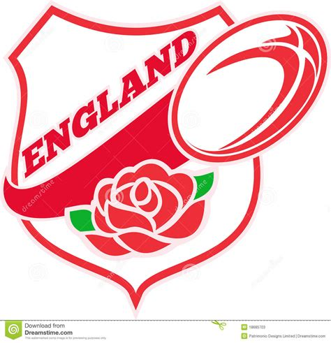 england rugby rose tattoo rugby stock photos image 18685703
