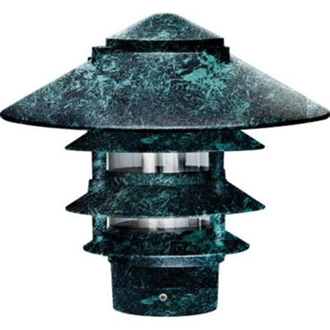 Filament Design Corbin 1 Light Verde Green 4 Tier Outdoor Pagoda Landscape Lights