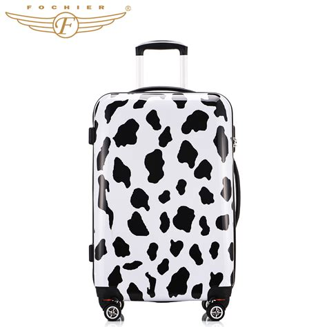 popular cow print luggage buy cheap cow print luggage lots