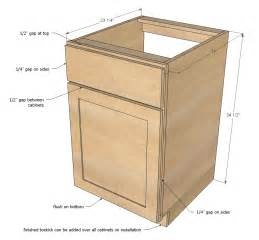 Ana white face frame base kitchen cabinet carcass diy projects
